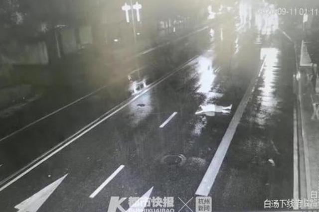 金华男子与女友赌气躺马路中央被撞飞 交警:男子全责