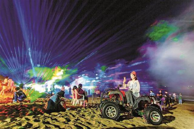 一场沙滩光影节打开游客追光之旅 网红打卡点大沙村