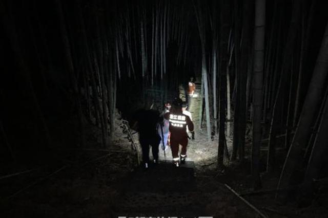 杭州一对夫妻上景区遛狗被困 救援队伍营救一个半小时