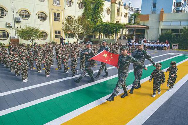 塔山幼儿园举行国防教育活动 让幼儿充分了解军人生活