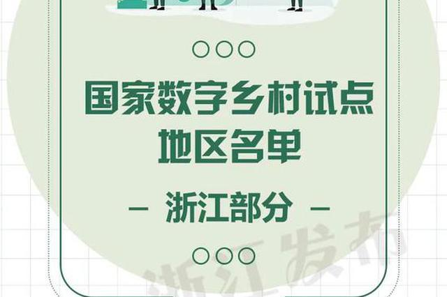 首批国家数字乡村试点地区名单公布 杭州临安上榜