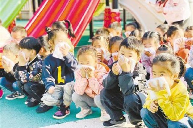 慈溪三所学校开展消防演习 师生了解消防避险知识