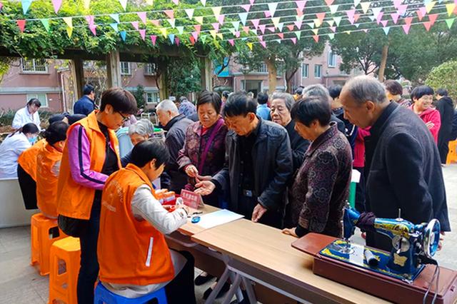 丹东街道欢乐社区公益便民活动 提高居民的文明意识