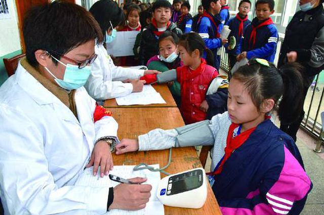 象山县健康体检活动进校园 为期7天的健康体检活动