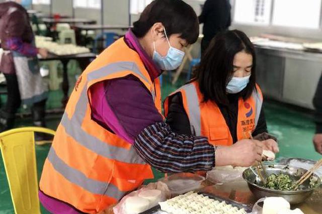 镇海工地办天南海北饺子宴 让留镇过年建设者感受乡味