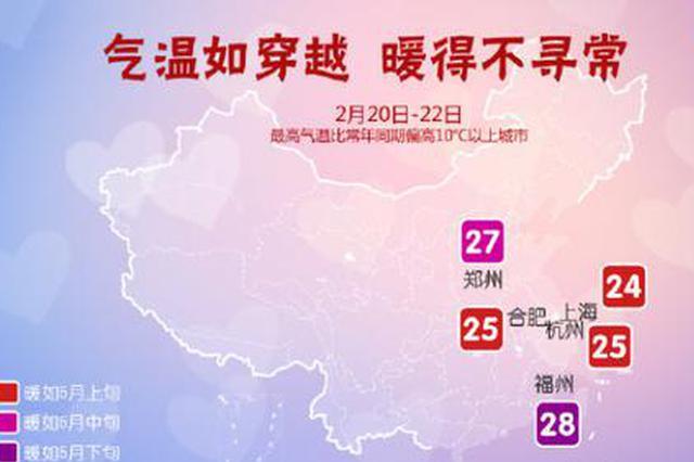 全国升温大赛开始 杭州今天起最高直冲25℃(图)
