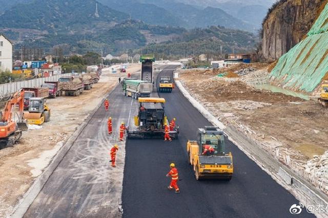 S203省道奉化段全面复工 预计2021年7月底完工通车