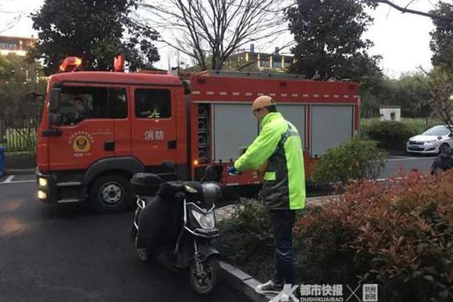 杭州西溪花園6樓廚房冒煙 31歲外賣小哥沖上樓滅火