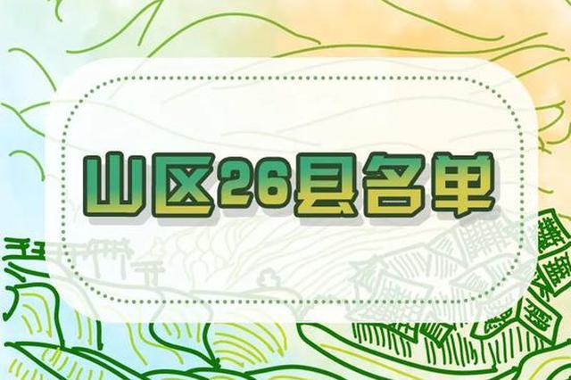 浙江出台专项政策 支持山区26县跨越式高质量发展