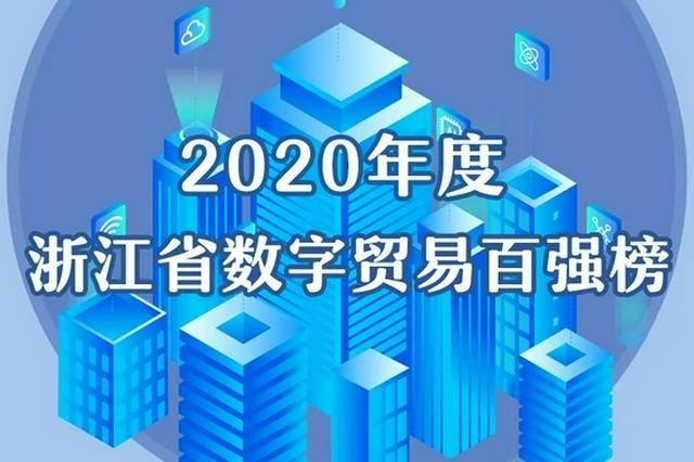 浙江省数字贸易百强榜出炉 杭州上榜91家东阳上榜4家