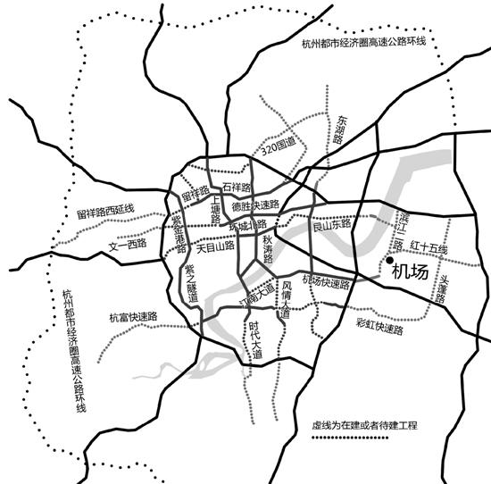 快速路网规划图局部