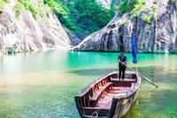 温州楠溪江神秘的石栀岩