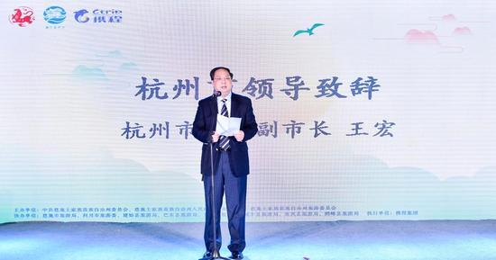 杭州市人民政府副市长王宏致辞