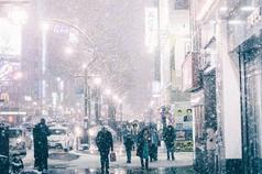 日本北海道的冬日雪景