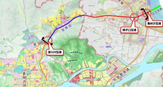 未来穿越之江新城只要12分钟 杭富城际线今年开工