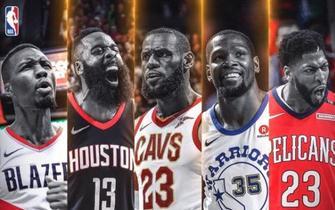 NBA赛季最佳阵容 利拉德力压库里威少入选一阵