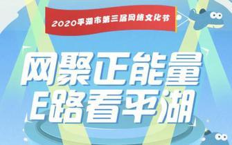"""""""云""""启动 平湖市第三届网络文化节正式开幕"""