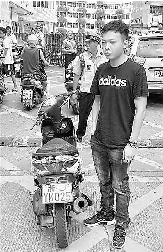 台州1男子被查 摩托车车牌驾驶证全是拼多多淘