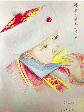 宁波女警用画笔绘出最诗意母爱