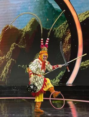 绍剧猴戏做客央视《一鸣惊人》节目