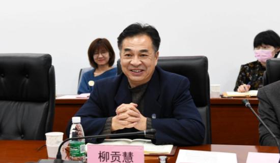 北京工业大学校长柳贡慧与大一新生座谈