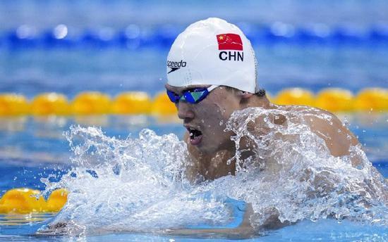 宁波泳将汪顺获全国游泳冠军赛男子400米混合泳冠军