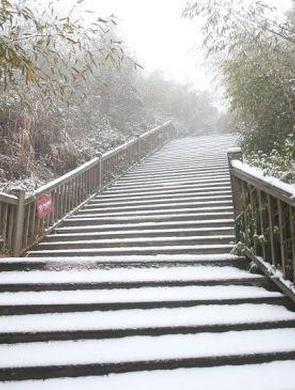 浙江安吉今冬的第一场大雪
