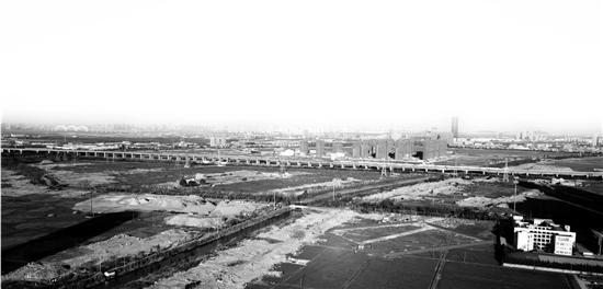 鸟瞰规划中的杭州亚运村地块。本报记者 董旭明 摄