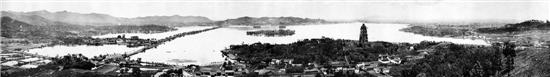20世纪20年代西湖全景图