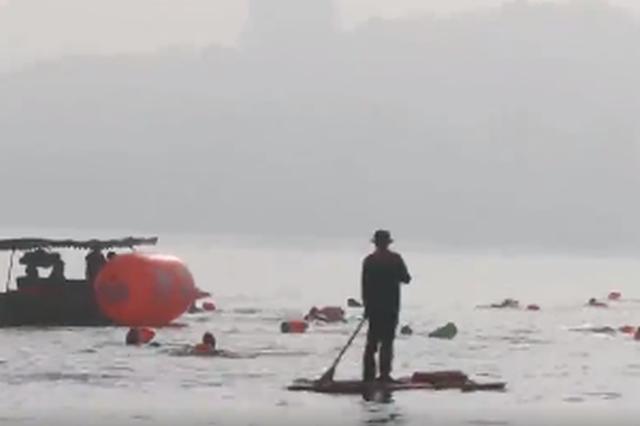 杭州西湖冬泳迎新年 16支冬泳代表队参加