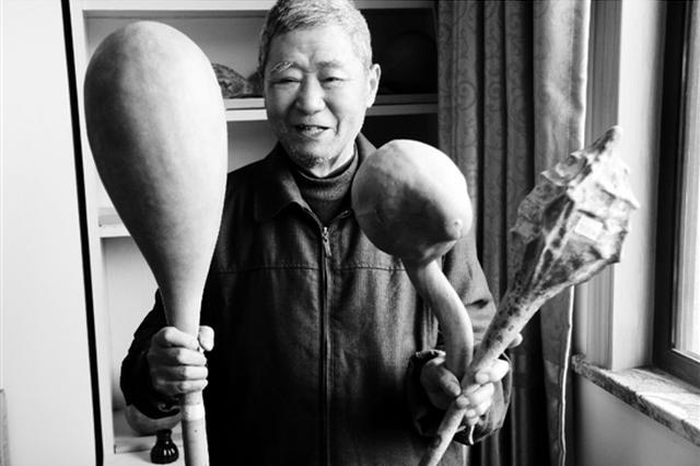 杭州桐庐有一个葫芦爷爷 种出80多种葫芦娃(图)