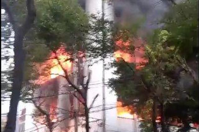 温州1橡胶公司突发大火 事发时员工未上班无人员伤亡