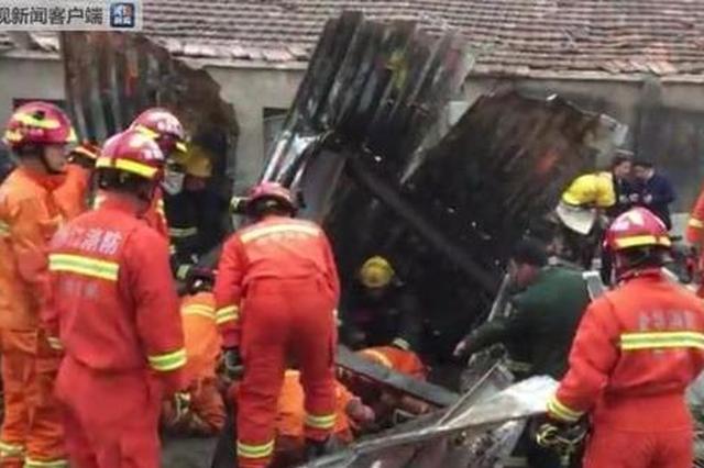 金华一厂房倒塌8人被压 2人当场死亡6人送医院救治
