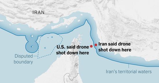 """無論是美國的說法還是伊朗的說法,""""全球鷹""""的擦邊球飛行是顯然的"""