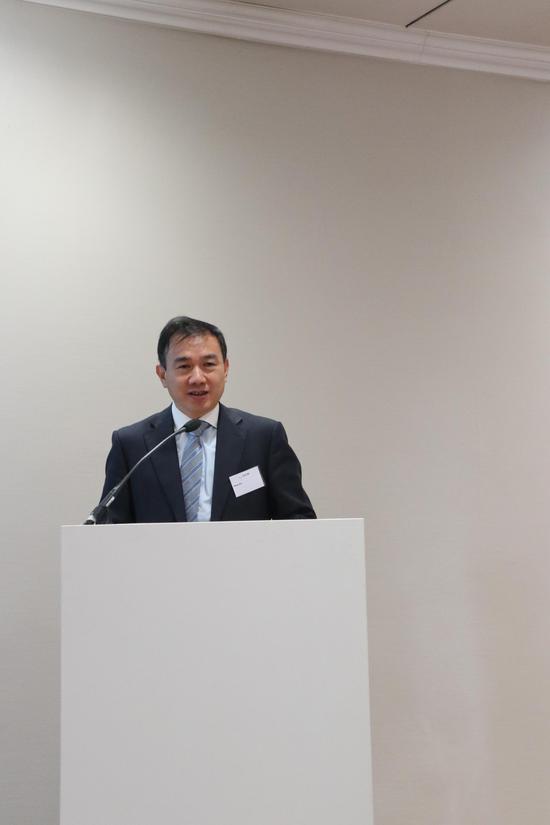 中國駐法蘭克福總領事館經濟商務室領事朱偉革 致辭