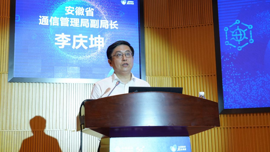 (安徽省通信管理局副局长李庆坤发表讲话)