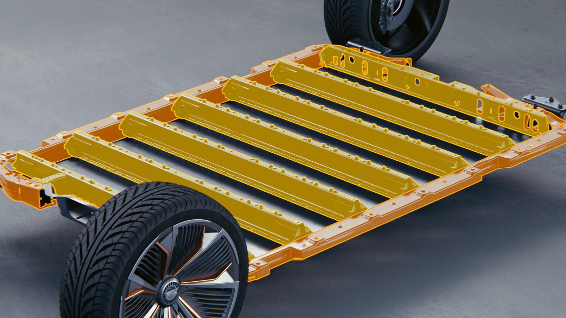 Ultium电池包壳体采用超高强度的井字形框架结构