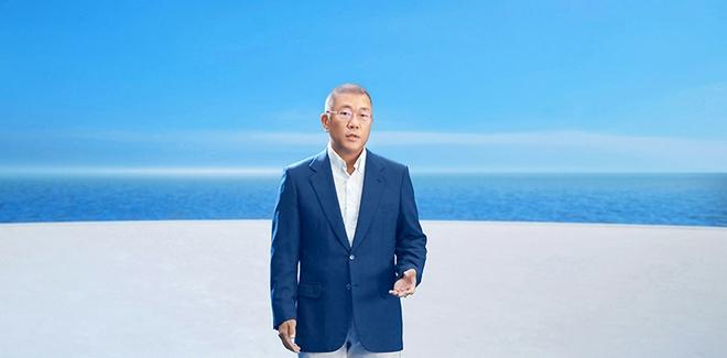 """现代汽车集团郑义宣会长在氢之日发布会公布现代汽车集团""""氢能愿景2040"""""""