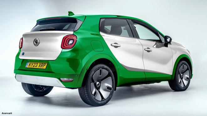 smart全新电动紧凑SUV效果图曝光 吉利SEA平台打造/2022年国产