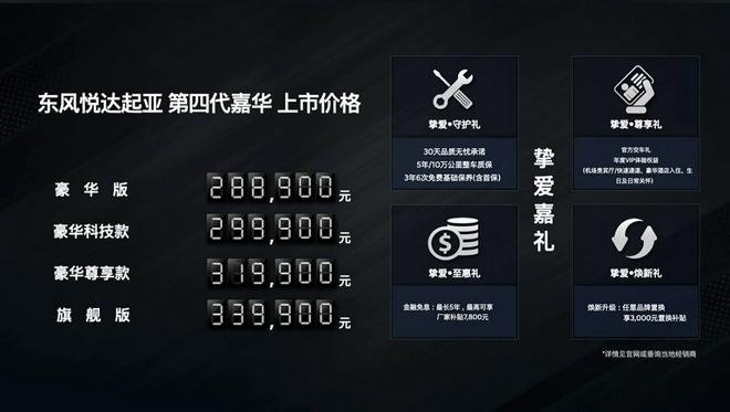 第四代嘉华上市 售价28.89万元-33.99万元