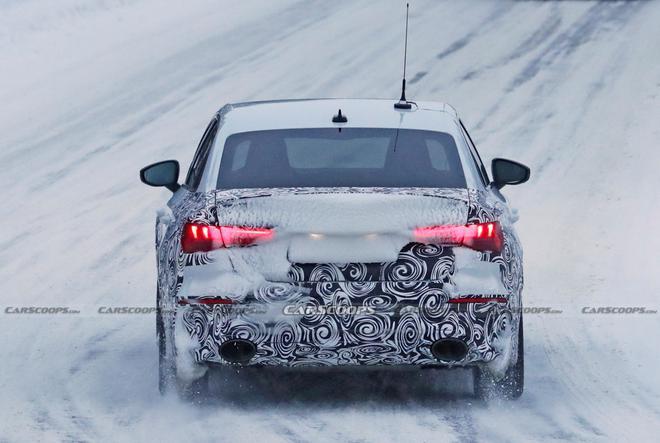 全新一代奥迪RS3轿车版最新极寒测试谍照曝光 4秒内即破百