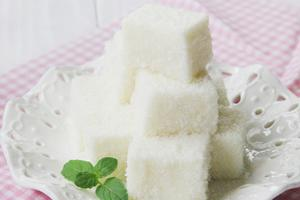 孩子大爱的小甜品--椰丝牛奶小方(图)