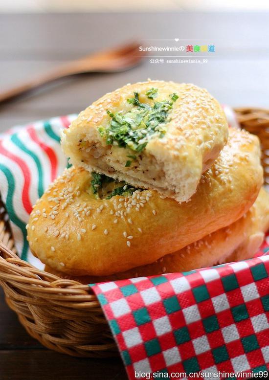 葱香土豆面包