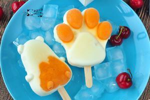 纯天然无添加的可爱猫爪奶油雪糕(图)