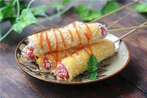 高颜值好口味的零食--火腿芝士卷(图)