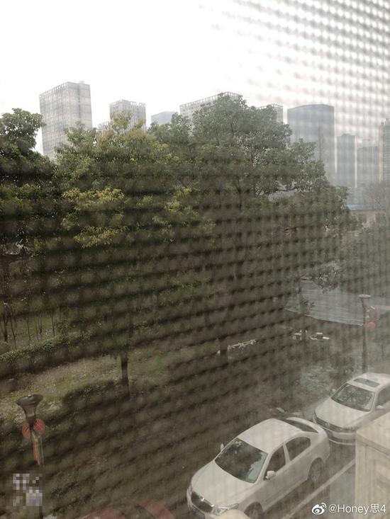酒店的窗外