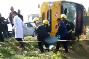 幼儿园校车翻车司机死亡一学生擦伤 官方:原因正在查
