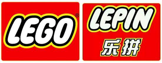 乐高logo(左)和乐拼logo(右)