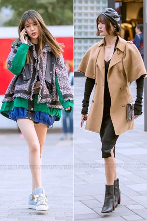 街拍:大胆尝试时尚的潮女