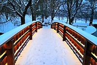 雪后的撒城就剩下黑白两色